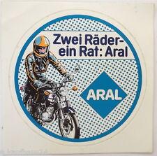 Aufkleber ARAL Zwei Räder ein Rat Motorrad Biker Tankstelle Benzin Sticker 80er