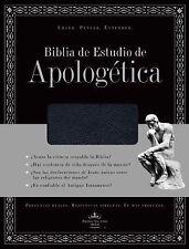 NEW - Biblia de Estudio de Apologetica, imitacion piel, con indice (Negro)