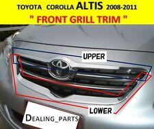 FRONT GRILL TRIM COVER CHROME FOR TOYOTA COROLLA ALTIS 2008-2011