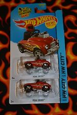 2015 HOT WHEELS HW CITY PEDAL DRIVER 74/250 SET OF TWO