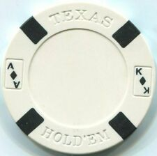 5 pc 5 colors Big Slick Texas Holdem poker chips sample set #5