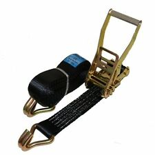 10 x 4 meter x 50mm Black Ratchets Tie Down Straps 5 tons Lorry Lashing