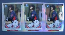 (3) TYLER NAQUIN ROOKIE CARD LOT 2014 BOWMAN CHROME REFRACTORS CLEVELAND INDIANS