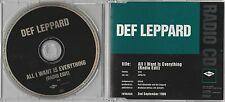 Def Leppard - All I Want Is Everything - Scarce UK 1trk Radio Edit promo CD