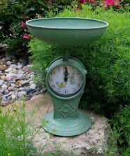 Scale/Fruit/Vegetable Bowl CLOCK*GREEN*Primitive/French Country Kitchen Decor