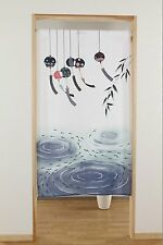 JAPANESE Noren Curtain NEW Killifish, wind-bell FROM JAPAN