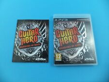 GUITAR HERO WARRIORS OF ROCK VGC Original Sony PlayStation 3 PS3 PAL Videojuego