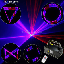 350mW RBP Laser 3D Projector Beam Scans DMX DJ Dance Bar Party Disco Stage Light