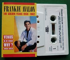 Frankie Avalon The Golden Years 1958-1962 inc Venus + Cassette Tape - TESTED