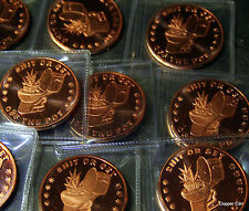 4:20 Time To S**T OR GET OFF THE POT .999 Pure Copper 3 Limited Coins W Displays