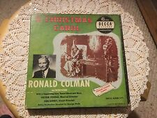 Pre Owned Decca Records.  45 RPM. A  Christmas Carol.  Ronald Colman as Scrooge