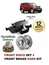 FOR DODGE NITRO 2.8TD  3.7 2007  NEW FRONT BRAKE DISCS SET & DISC PADS KIT