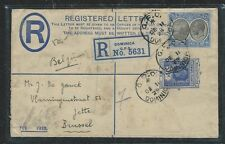 LEEWARD ISLANDS (P0404B) 1929 KGV RLE 3D+ DOMINICA 2 1/2D REG FROM DOMINICA TO B