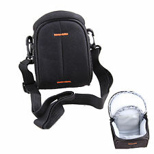 Black Nylon Shoulder Waist Camera Bag For FUJI FinePix XF1 X100S S8600 X20 X100T