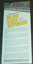 VINTAGE 1972? SKI-DOO SNOWMOBILE SLIDER SUSPENSION BROCHURE ENGLISH/FRENCH (045)