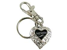 Memaw Silver Filigree Heart Key Chain with Clip Jewelry Family Gift Grandmother