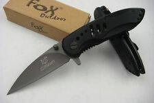Couteau Spring Assist BABYFOX TITANIUM COATING Black Pocket Knife- 15 cm open