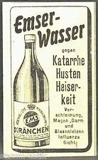 Emser Wasser,Kränchen,gegen Katarrhe,Husten,Ems,orig.Anzeige 1916