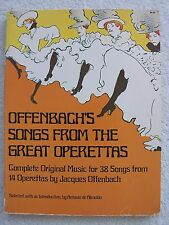 Offenbach 38 Songs 14 Great Operettas Voice Piano Unmarked