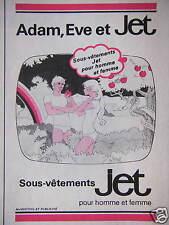 PUBLICITÉ ADAM EVE ET JET SOUS VÊTEMENTS POUR HOMME ET FEMME