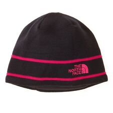 The North face Logo Beanie, Black/Barberry Pink