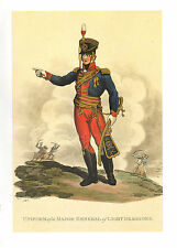 WELLINGTONS ARMY MILITARY UNIFORM PRINT ~ MAJOR GENERAL OF LIGHT DRAGOONS
