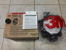 3M 7800S-M Full-Face Respirator - Medium-New