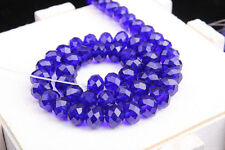 Czech Colorful Rondelle Bicone Crystal Glass Spacer Loose Beads  Jewelry Making