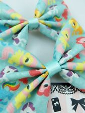 My Little Pony Pastel Mint Fabric Hair Bow - Pinkie Pie - Rainbow Dash