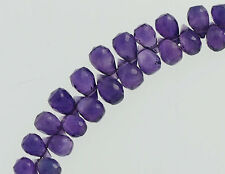 20 Amethyst Faceted Briolette Beads 5-7.5mm.