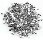 2000 Pcs Wholesale Crystal Flat Back Acrylic Rhinestones Gems Silver Color New