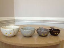 SA0069  Owl Measuring Cups Set/4 Stoneware Kitchen Baking Birds Cooking