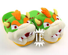 SUPER MARIO BOWSER CIABATTE pantofole cosplay slippers peluche plush koopa toad