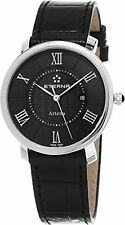 Eterna 2510.41.45.1251 Classic Line Artena Lady Black Leather Strap Swiss Watch