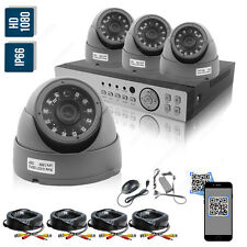 2.4MP 1080P CCTV 8CH Full HD DVR Record IR-CUT Home Security Camera System Kit