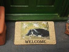 Dolls House 1:12 Handmade SHIH TZU DOG DESIGN WELCOME MAT by Home petite Home