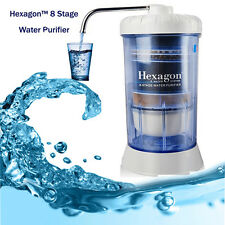 Household portable Hexagon Water System - 8 Stage Filtration Healthy Water