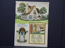 Houses, Homes, American Builder c.1927, One Double Sided Print #04