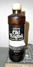 Older Old English Scratch cover glass bottle, great collectible item, 1/2 full