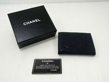CHANEL WALLET black leather authentic