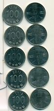 5 DIFFERENT 100 WON COINS from SOUTH KOREA (2008-2012)