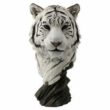 NEW WildLife White Tiger Bust Statue Figures Sculpture Ship Immediately !!!