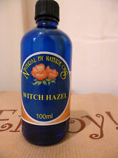 Natural By Nature Witch Hazel 100ml Facial Cleanser Soothing Pure Hamamelis
