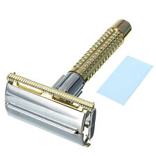 Vintage Safety Manual Razor double edge shaving blades shaver Thick Handle + Box