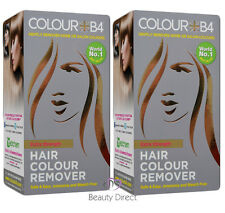 2 Boxes Colour B4 Colourb4 Hair Colour Remover Stripper No Bleach Extra Strength
