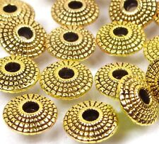 25 Golden Pewter Disc Spacer Rondelle 8mm ~ Lead-Free ~