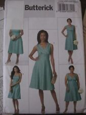 PLUS SIZE 18 20 22 24W sewing pattern Butterick bridesmaid dress w/ variations
