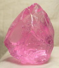 "Gem Angel Aura HGW Pink ""Heart"" w/ rainbow Monatomic Andara Crystal 386.7 g."