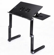 Folding Laptop Table Desk Tray Stand with Mouse Board and Cooler Fan
