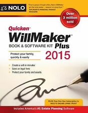 Quicken WillMaker Plus 2015 Edition: Book & Software Kit by Nolo, Editors of